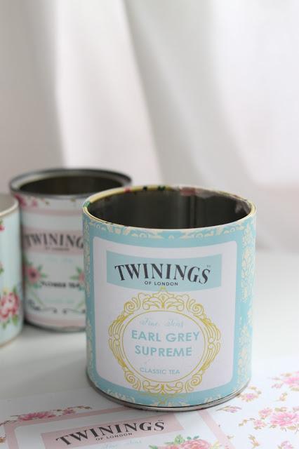 {Descargable} Latas recicladas con etiqueta de té Twinings