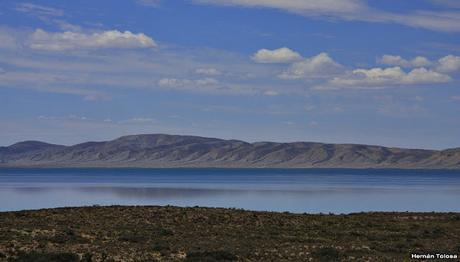 Una vista del lago Musters