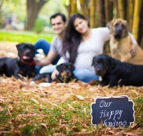 Madres primeriza y perros