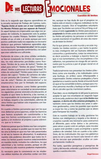 El Senderín, boletín informativo, abril, 2018.