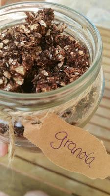 Granola Casera con Nueces y Cacao ~ Sin lácteos y sin gluten