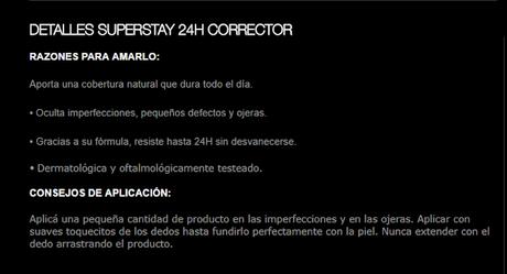 Reseña Corrector Super Stay 24hs de Maybelline.