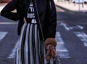 Bomber striped skirt