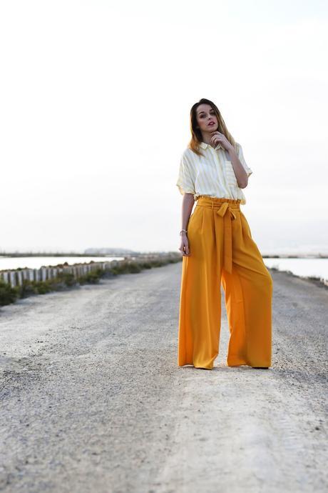 Amarillo + Pantalones Palazzo
