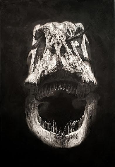 Las perturbadoras pinturas dinosaurianas de Ji Nan Oh