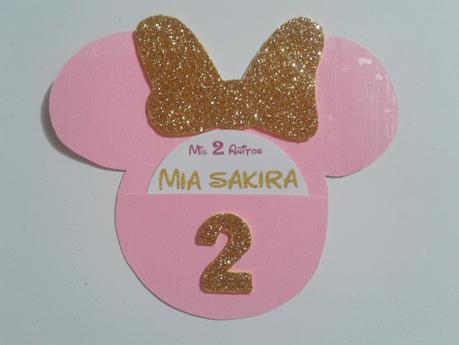 Tarjeta De Invitación Minnie Gold Paperblog