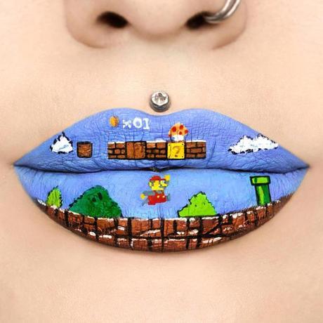 Obras de arte en los labios