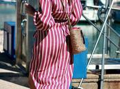 Vestido camisero cruzado rayas