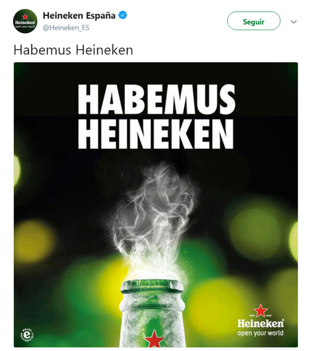 Instant Marketing-Habemus Heineken