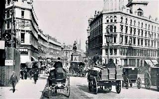 Foto del centro de Londres, a finales del siglo XIX