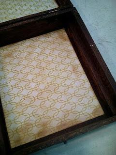 Una simple caja de puros de madera, tratada con nogalina ...