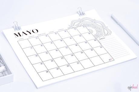 Freebie: Calendario Mayo