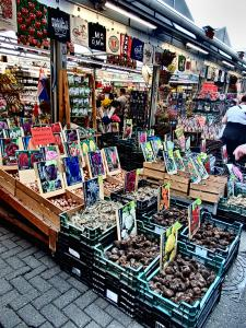 En Ámsterdam, Mercado de las Flores, Ana Frank