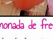 Limonada fresa burbujeante