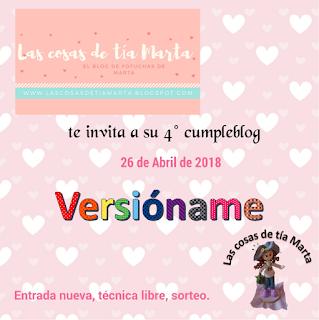Cumple Blog Las cosas de Tia Marta . Link directo a su Fiesta Blog de enlances