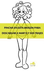 Muñeca Recortable : Marta y sus trajecitos link de Descarga