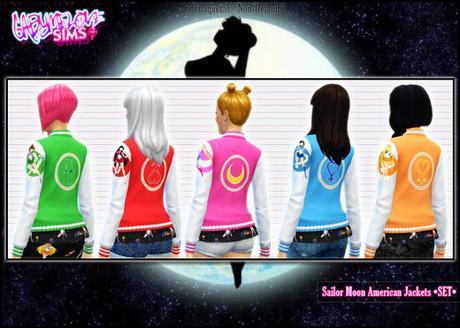 Chaquetas Americanas de Sailor Moon para Los Sims 4