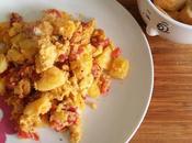 Huevos revueltos patatas pimientos #asaltablogs