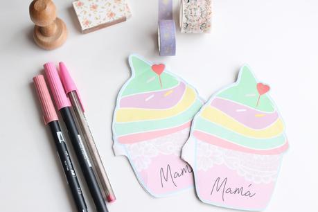 Postal cupcake para el Día de la madre