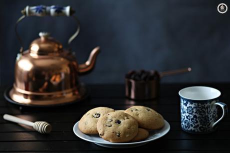 raisins-and-honey-cookies, galletas-de-miel-y-pasas