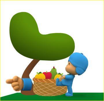 Juego de las frutas de Pocoyó