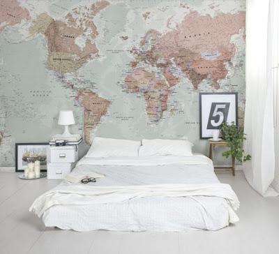 pared con mapa