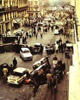 Barrio Latino tras los incidentes del mayo del 68.