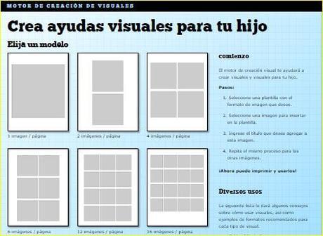 Visual Engine, crea tus tarjetas con pictogramas
