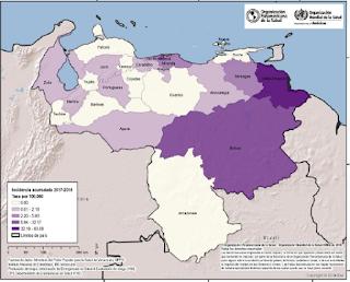 Actualización de los Casos de Sarampión en Venezuela (Mayo 2018)