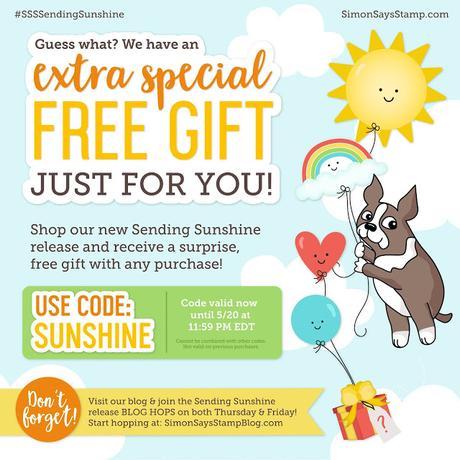 Summer Card + SSS Sending Sunshine BLOG HOP