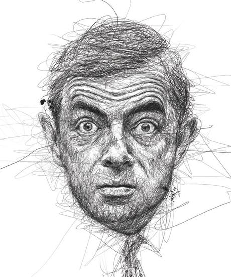 Dibujos de caras de famosos con un estilo unico por Vince Low