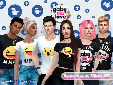 Reacting to you ☻ T-Shirts ~ SET (Sims 4)