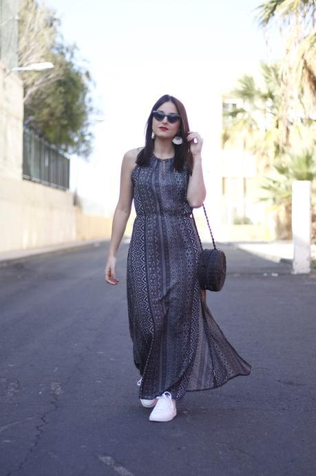 Combinar Un Vestido Largo Con Tenis Paperblog