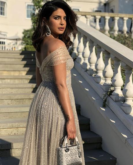 Priyanka Chopra en la boda del príncipe Harry y Megan Markle