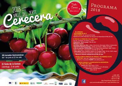Cartel y programa oficial CERECERA 2018, Valle del Jerte