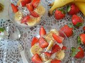 Fresa Plátano crema queso