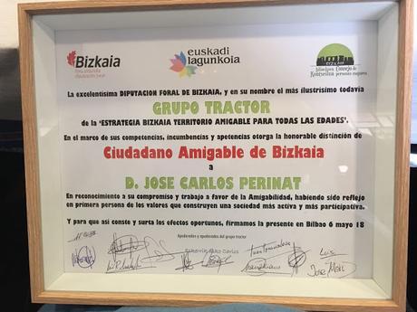 José Carlos Perinat nombrado Ciudadano Amigable de Bizkai...