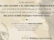 ÁNGEL SILVELO GANA PREMIO RELATOS PAISAJES VITIVINÍCOLAS AZORÍN CÁTEDRA ENOTURISMO CASA CECILIA UNIVERSIDAD MIGUEL HERNÁNDEZ 2018