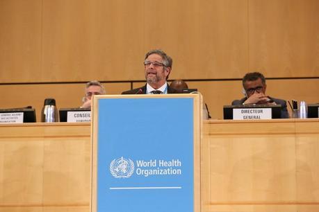 Ministro Rubinstein disertó en la 71º Asamblea de la Organización Mundial de la Salud.