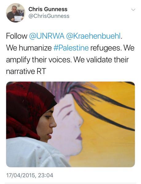 UNRWA, ya ni siquiera oculta su posicionamiento pro palestino.