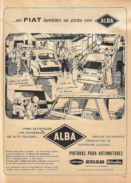 Las pinturas de ALBA para Fiat