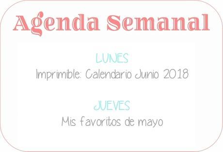 Agenda Semanal 28/05 - 3/06