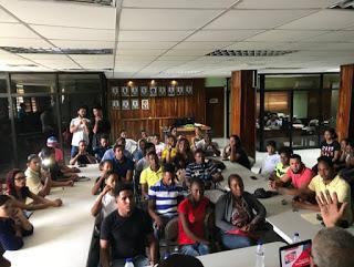 Integrantes de Cinematografía de Neiba reciben tercer taller de formación.