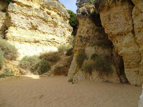 Escaleras escalones cala playa ponta grande algarve