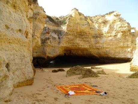 playa cueva Algarve, portugal, playa secreta