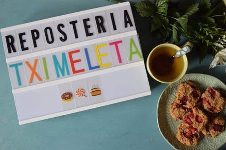 Galletas de Avena, Plátano y Fresa Veganas