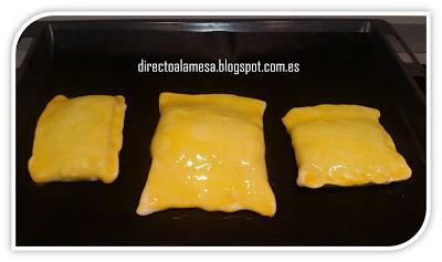 Salmón en hojaldre con espinacas