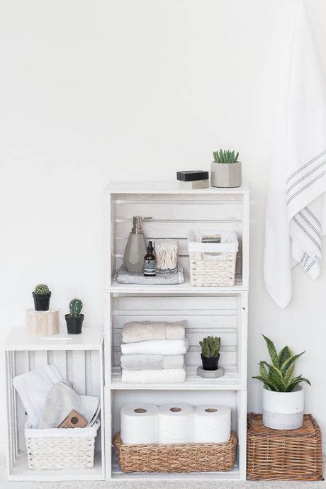 DIY: Almacenaje de baño nórdico y low cost
