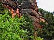 Parque Natural Alto Tajo. Barranco Gallo, espectáculo columnas rojas
