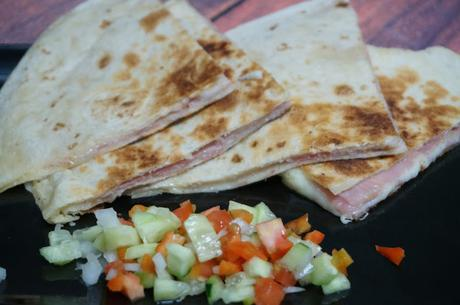 Tortitas de jamón y queso